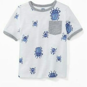 Cute Printed pocket tee for toddler